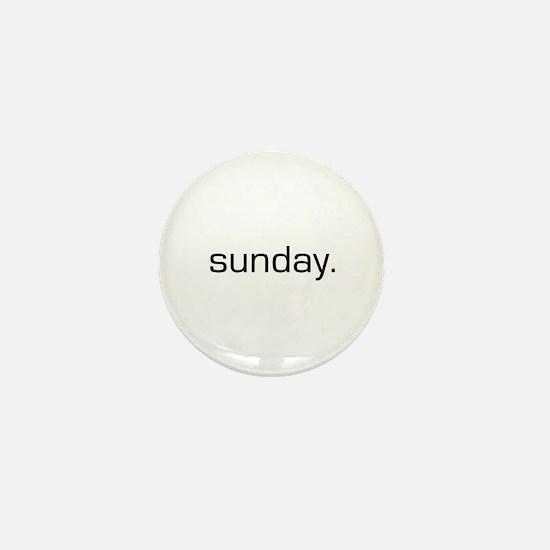 Sunday Mini Button