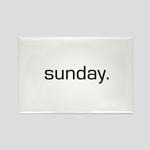 Sunday Rectangle Magnet