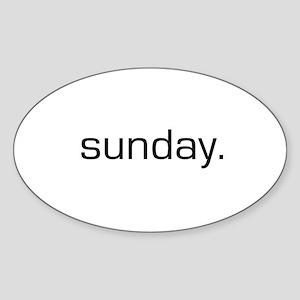 Sunday Oval Sticker