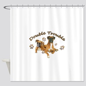 Boxer Double Trouble Shower Curtain