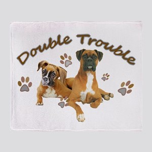 Boxer Double Trouble Throw Blanket