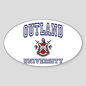 OUTLAND University Oval Sticker