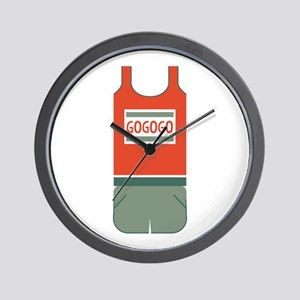 Track Outfit Wall Clock