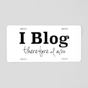 I Blog Aluminum License Plate