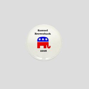 Sam Brownback Mini Button