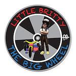 Little Britty Round Car Magnet