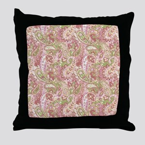 Baby Pink Watercolor Paisley 2 Throw Pillow