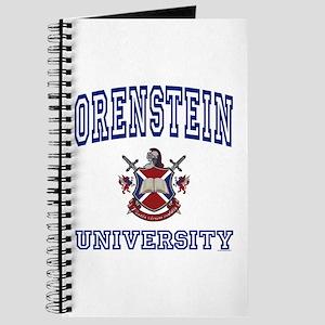 ORENSTEIN University Journal