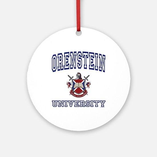 ORENSTEIN University Ornament (Round)
