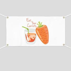 Eat Carrots Banner