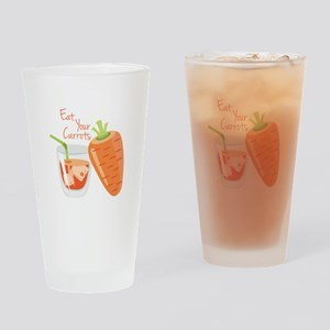 Eat Carrots Drinking Glass