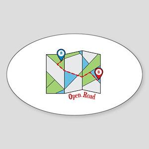 Open Road Sticker