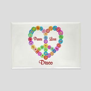 Disco Peace Love Rectangle Magnet