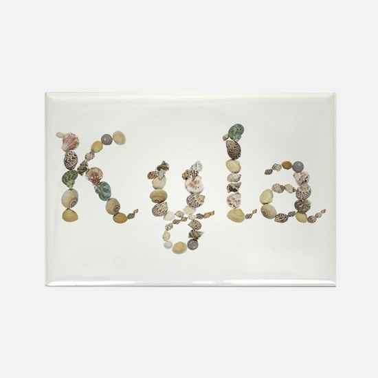 Kyla Seashells Rectangle Magnet