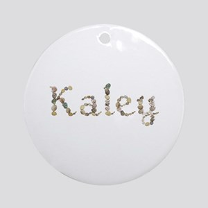 Kaley Seashells Round Ornament