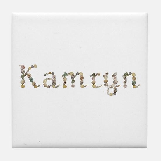 Kamryn Seashells Tile Coaster