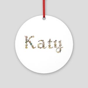 Katy Seashells Round Ornament