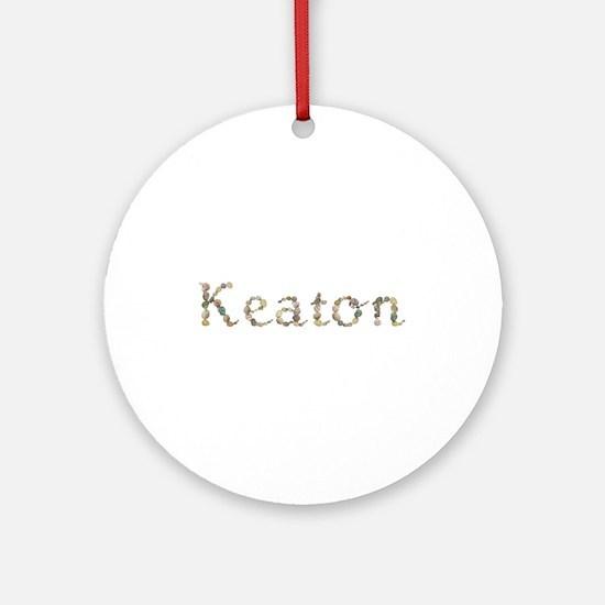 Keaton Seashells Round Ornament