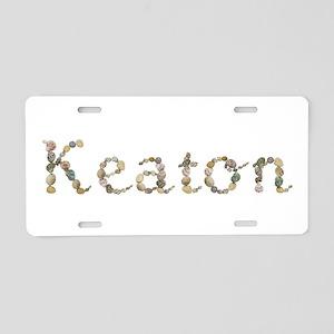Keaton Seashells Aluminum License Plate