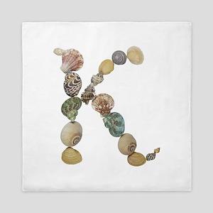 K Seashells Queen Duvet