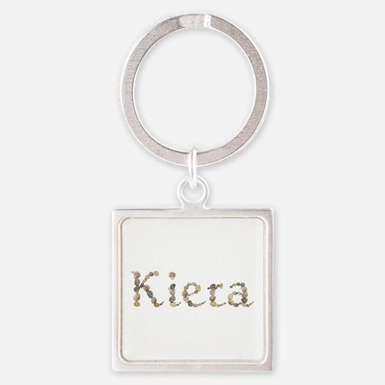 Kiera Seashells Square Keychain