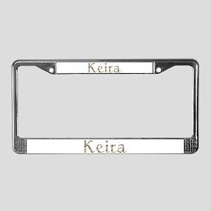 Keira Seashells License Plate Frame