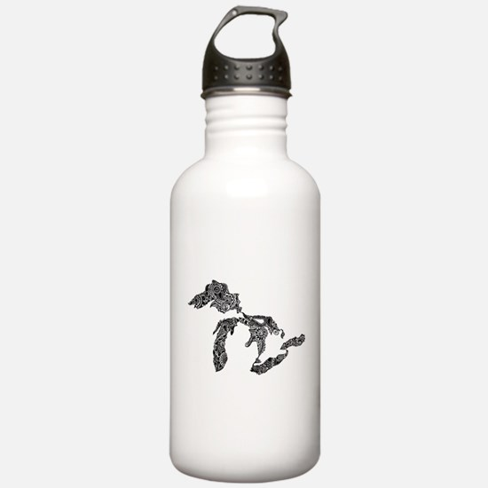 Funny Upper peninsula michigan Water Bottle