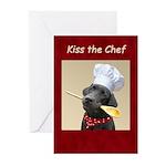 Black Labrador Dog Chef Greeting Cards (Pk of 10)