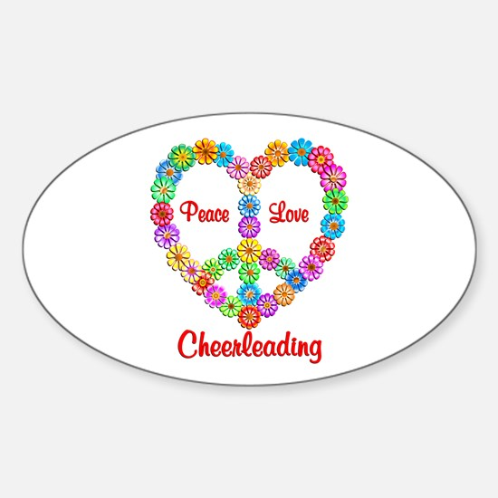 Camping Peace Love Sticker (Oval)