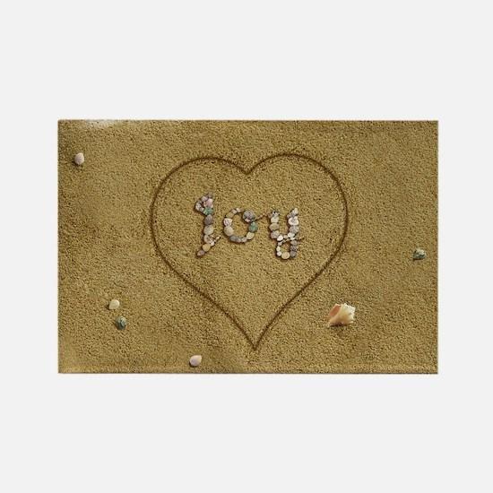 Joy Beach Love Rectangle Magnet