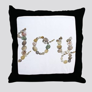 Joy Seashells Throw Pillow