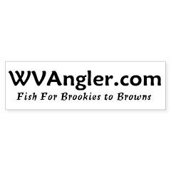 WVAngler.com Bumper Bumper Sticker