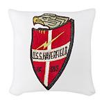 USS HAVERFIELD Woven Throw Pillow