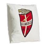USS HAVERFIELD Burlap Throw Pillow