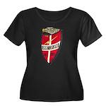USS HAVE Women's Plus Size Scoop Neck Dark T-Shirt