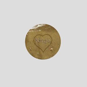 Jorge Beach Love Mini Button