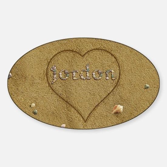 Jordon Beach Love Sticker (Oval)