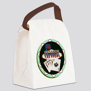 Las Vegas Welcome Sign Poker Chip Canvas Lunch Bag