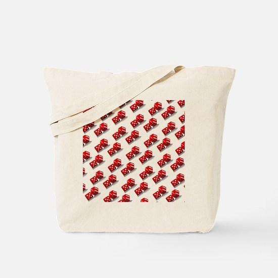 Las Vegas Red Dice Tote Bag