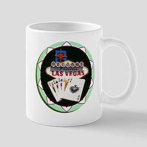 Las Vegas Welcome Sign Poker Chip Mug