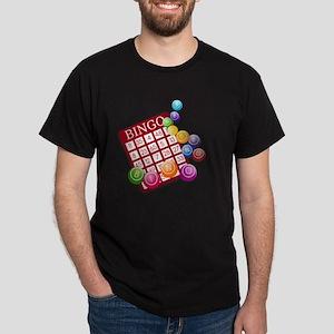 Las Vegas Bingo Card and Bingo Balls Dark T-Shirt