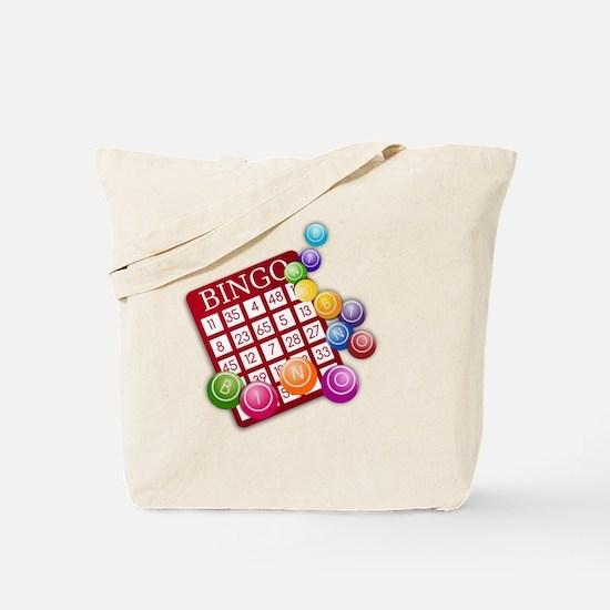 Las Vegas Bingo Card and Bingo Balls Tote Bag