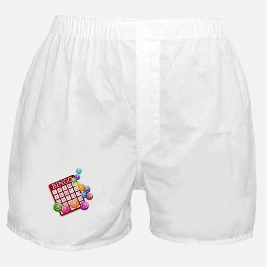 Las Vegas Bingo Card and Bingo Balls Boxer Shorts