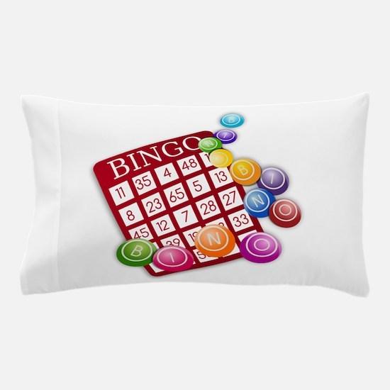Las Vegas Bingo Card and Bingo Balls Pillow Case