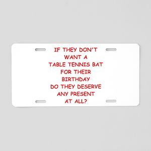 table tennis Aluminum License Plate