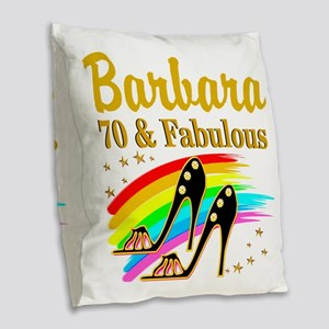 CELEBRATE 70 Burlap Throw Pillow