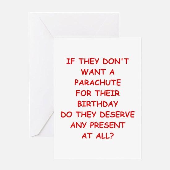 parachute Greeting Cards