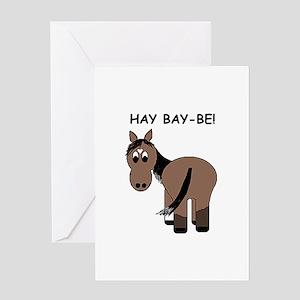 Hay Bay-Be! Horse Greeting Card