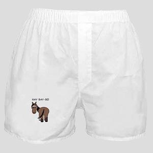 Hay Bay-Be! Horse Boxer Shorts