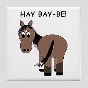 Hay Bay-Be! Horse Tile Coaster